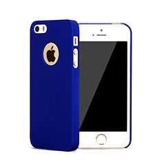 Schutzhülle Kunststoff Hülle Matt Loch für Apple iPhone 5 Blau
