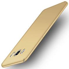 Schutzhülle Kunststoff Hülle Matt M01 für Samsung Galaxy J5 Duos (2016) Gold