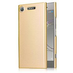 Schutzhülle Kunststoff Hülle Matt M01 für Sony Xperia XZ1 Gold