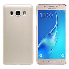 Schutzhülle Kunststoff Hülle Matt M02 für Samsung Galaxy J5 Duos (2016) Gold