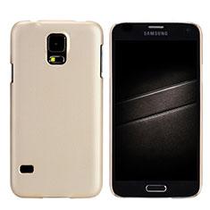 Schutzhülle Kunststoff Hülle Matt M02 für Samsung Galaxy S5 G900F G903F Gold