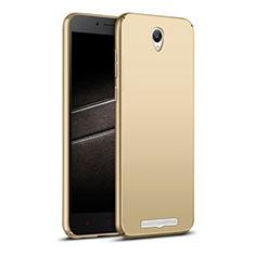 Schutzhülle Kunststoff Hülle Matt M02 für Xiaomi Redmi Note 2 Gold