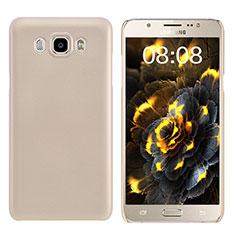 Schutzhülle Kunststoff Hülle Matt M03 für Samsung Galaxy J7 (2016) J710F J710FN Gold