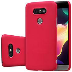 Schutzhülle Kunststoff Hülle Matt R01 für LG G5 Rot