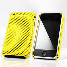 Schutzhülle Kunststoff Hülle Punkte Loch für Apple iPhone 3G 3GS Gelb