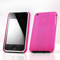 Schutzhülle Kunststoff Hülle Punkte Loch für Apple iPhone 3G 3GS Pink