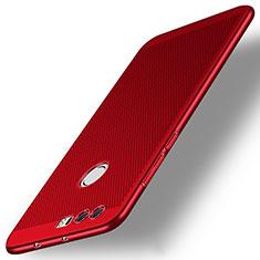 Schutzhülle Kunststoff Hülle Punkte Loch für Huawei Honor 8 Rot
