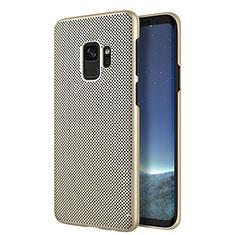Schutzhülle Kunststoff Hülle Punkte Loch für Samsung Galaxy S9 Gold