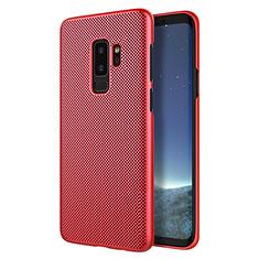 Schutzhülle Kunststoff Hülle Punkte Loch für Samsung Galaxy S9 Plus Rot