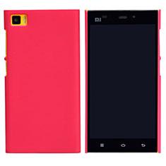 Schutzhülle Kunststoff Hülle Punkte Loch für Xiaomi Mi 3 Rot