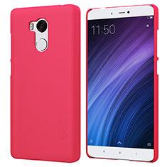 Schutzhülle Kunststoff Hülle Punkte Loch für Xiaomi Redmi 4 Prime High Edition Rot