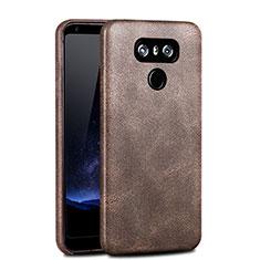 Schutzhülle Kunststoff Schutzhülle Leder für LG G6 Braun