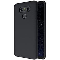 Schutzhülle Kunststoff Tasche Matt B01 für LG G6 Schwarz