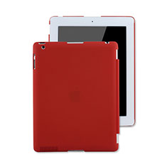 Schutzhülle Kunststoff Tasche Matt für Apple iPad 3 Rot