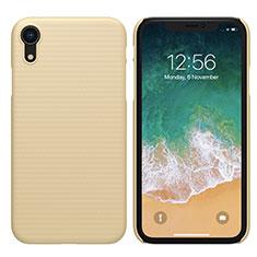 Schutzhülle Kunststoff Tasche Matt für Apple iPhone XR Gold