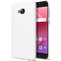 Schutzhülle Kunststoff Tasche Matt für Asus Zenfone 4 Selfie Pro Weiß