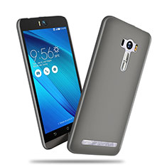 Schutzhülle Kunststoff Tasche Matt für Asus Zenfone Selfie ZD551KL Grau