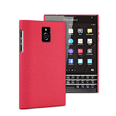 Schutzhülle Kunststoff Tasche Matt für Blackberry Passport Q30 Rot