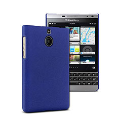 Schutzhülle Kunststoff Tasche Matt für Blackberry Passport Silver Edition Blau