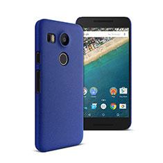 Schutzhülle Kunststoff Tasche Matt für Google Nexus 5X Blau