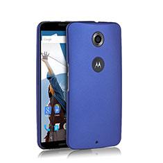 Schutzhülle Kunststoff Tasche Matt für Google Nexus 6 Blau