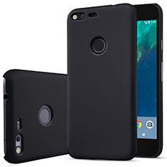 Schutzhülle Kunststoff Tasche Matt für Google Pixel Schwarz