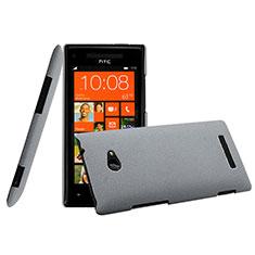 Schutzhülle Kunststoff Tasche Matt für HTC 8X Windows Phone Grau