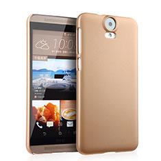 Schutzhülle Kunststoff Tasche Matt für HTC One E9 Plus Gold