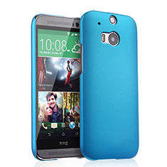 Schutzhülle Kunststoff Tasche Matt für HTC One M8 Hellblau
