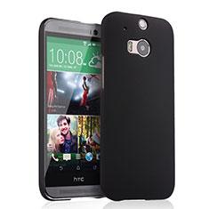 Schutzhülle Kunststoff Tasche Matt für HTC One M8 Schwarz