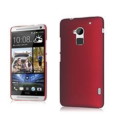 Schutzhülle Kunststoff Tasche Matt für HTC One Max Rot