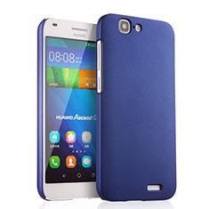 Schutzhülle Kunststoff Tasche Matt für Huawei Ascend G7 Blau