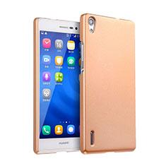 Schutzhülle Kunststoff Tasche Matt für Huawei Ascend P7 Gold