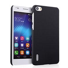 Schutzhülle Kunststoff Tasche Matt für Huawei Honor 6 Schwarz