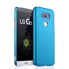 Schutzhülle Kunststoff Tasche Matt für LG G5 Hellblau