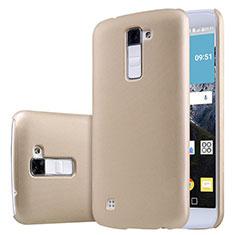 Schutzhülle Kunststoff Tasche Matt für LG K10 Gold