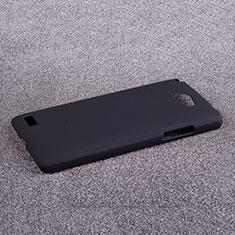 Schutzhülle Kunststoff Tasche Matt für LG L Bello 2 Schwarz