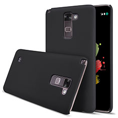 Schutzhülle Kunststoff Tasche Matt für LG Stylus 2 Plus Schwarz