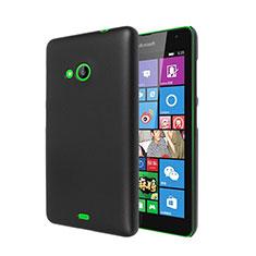 Schutzhülle Kunststoff Tasche Matt für Microsoft Lumia 535 Schwarz