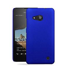Schutzhülle Kunststoff Tasche Matt für Microsoft Lumia 550 Blau