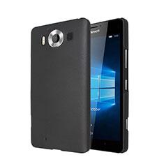 Schutzhülle Kunststoff Tasche Matt für Microsoft Lumia 950 Schwarz