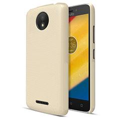 Schutzhülle Kunststoff Tasche Matt für Motorola Moto C Plus Gold