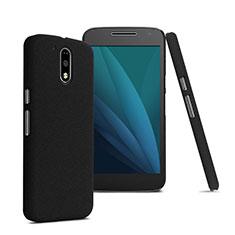 Schutzhülle Kunststoff Tasche Matt für Motorola Moto G4 Plus Schwarz