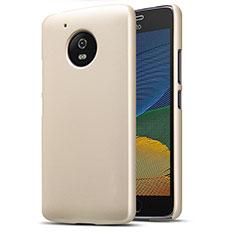 Schutzhülle Kunststoff Tasche Matt für Motorola Moto G5 Gold