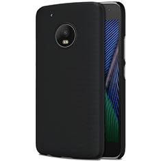Schutzhülle Kunststoff Tasche Matt für Motorola Moto G5 Plus Schwarz