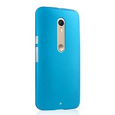 Schutzhülle Kunststoff Tasche Matt für Motorola Moto X Style Hellblau