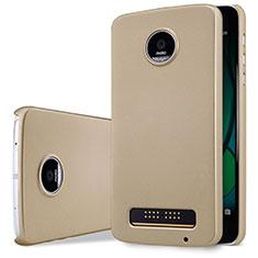 Schutzhülle Kunststoff Tasche Matt für Motorola Moto Z Play Gold