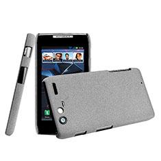 Schutzhülle Kunststoff Tasche Matt für Motorola Razr XT910 Grau