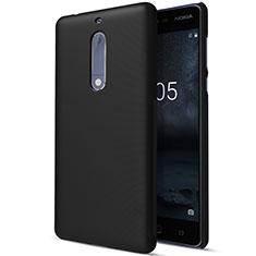 Schutzhülle Kunststoff Tasche Matt für Nokia 5 Schwarz
