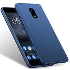 Schutzhülle Kunststoff Tasche Matt für Nokia 6 Blau